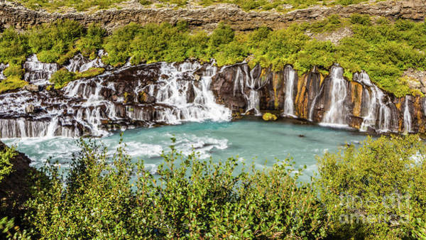 Photograph - Hraunfossar Waterfall, Iceland by Lyl Dil Creations
