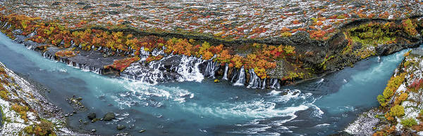 Wall Art - Photograph - Hraunfossar Waterfalls, Iceland by Panoramic Images