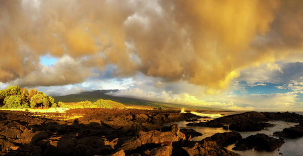 Photograph - Hualalai Sunset by Christopher Johnson