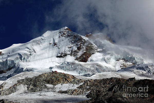 Photograph - Huayna Potosi Cloudscape Cordillera Real Bolivia by James Brunker