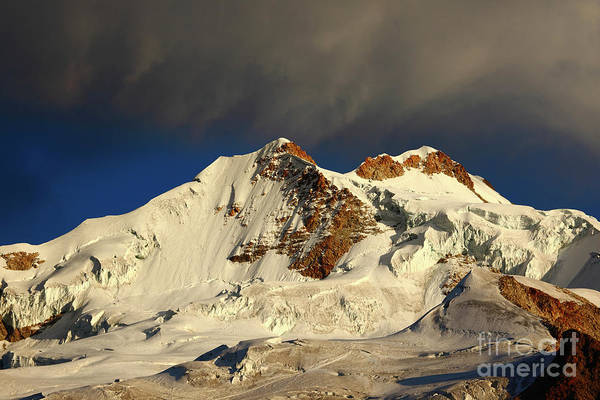 Photograph - Huayna Potosi South And North Peaks Bolivia by James Brunker