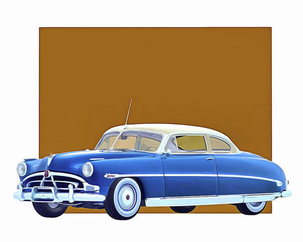 Digital Art - Hudson Hornet Coupe 1953 by Jan Keteleer
