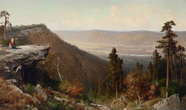 Catskills Painting - Hudson River Valley From The Catskill Mountain House by Thomas Hill