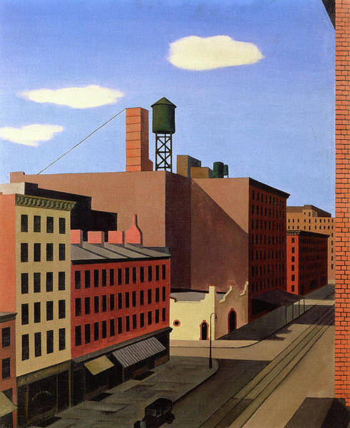 Wall Art - Painting - Hudson Street by George Copeland Ault