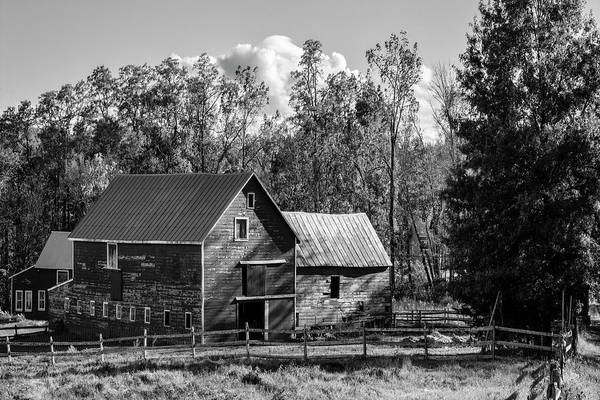 Photograph - Hudson Valley Ny Countryside Bw by Susan Candelario