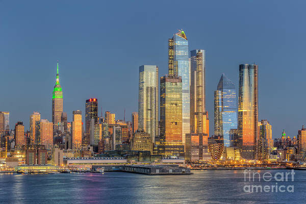 Photograph - Nyc Hudson Yards Development At Twilight I by Clarence Holmes