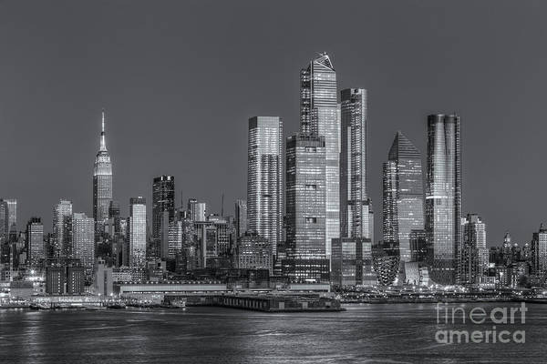 Photograph - Nyc Hudson Yards Development At Twilight II by Clarence Holmes