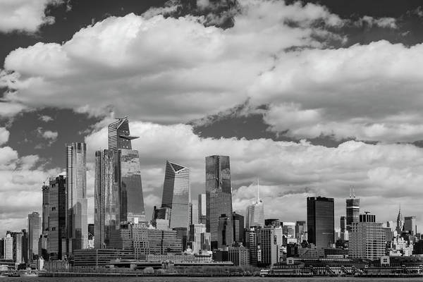 Photograph - Hudson Yards Nyc Skyline Ir by Susan Candelario