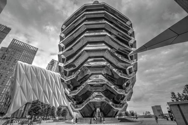 Wall Art - Photograph - Hudson Yards Vessel Recent, Phenomenal, Manhattan, New York City, New York, Ny, Cloudy, The City, Th by Geraldine Scull
