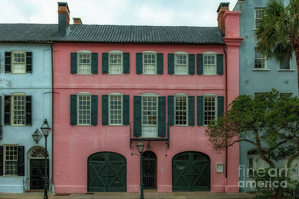 Photograph - Hues Of Pink - Rainbow Row by Dale Powell