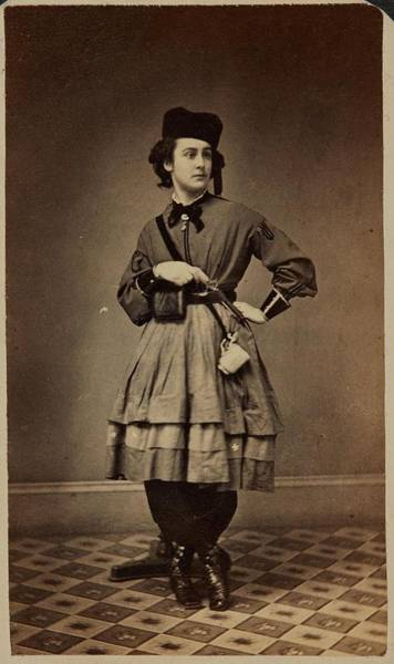 Painting - Huested  Wendell American Woman Holding Gun Ca. 1860 Albumen Silver Print by Celestial Images