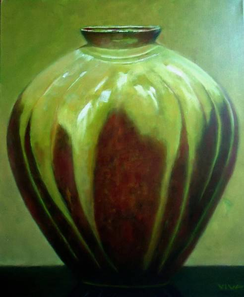 Painting - Hug Me Pot Before by VIVA Anderson
