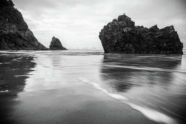 Photograph - Hug Point Tides by Kristopher Schoenleber