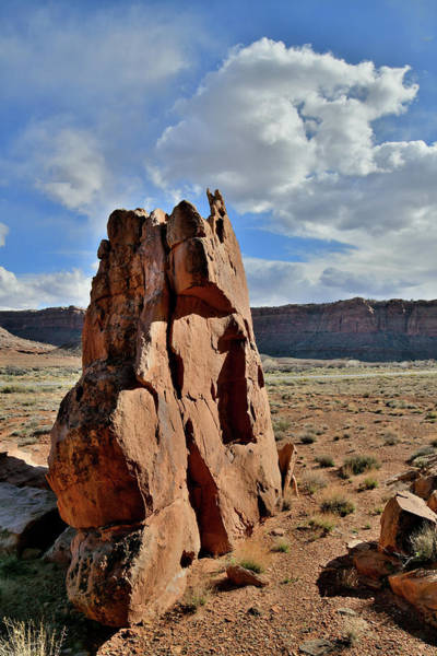 Photograph - Huge Bouder Along Highway 313 In Utah by Ray Mathis