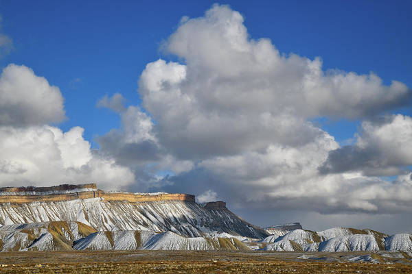 Photograph - Huge Clouds Cast Shadow On Book Cliffs by Ray Mathis
