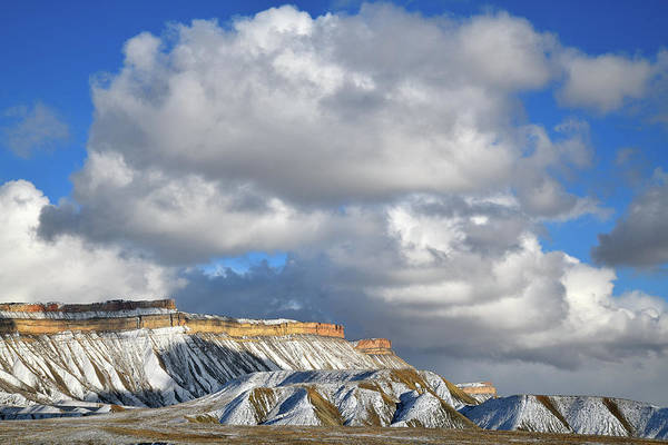 Photograph - Huge Clouds Over Book Cliffs In Grand Junction by Ray Mathis