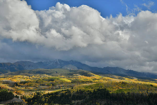 Photograph - Huge Clouds Over Fall Colors Of Telluride by Ray Mathis