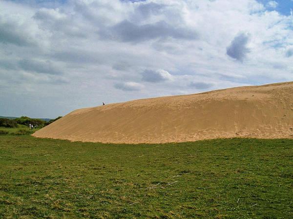 Wall Art - Photograph - Huge Sand Dune Meets Grass Braunton Burrows Devon by Richard Brookes