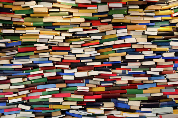 Publication Photograph - Huge Stack Of Books - Book Wall by Funky-data