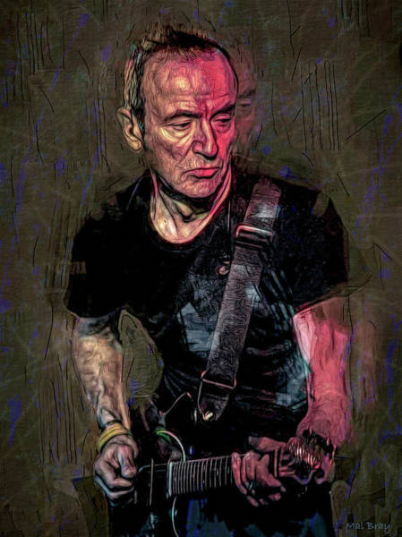 Wall Art - Mixed Media - Hugh Cornwell, The Stranglers by Mal Bray