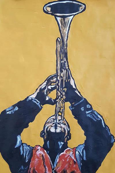 Painting - Hugh Masakela by Rachel Natalie Rawlins