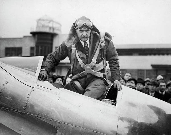 Climbing Photograph - Hughes Boards His Plane by Time Life Pictures