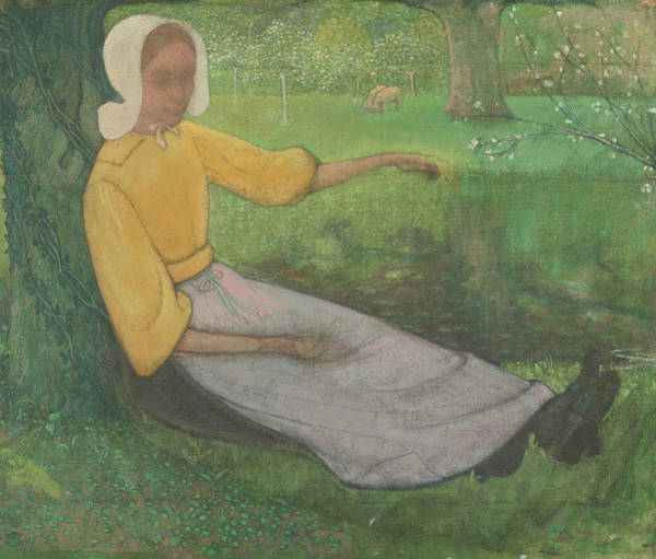 Painting - Huizer Woman Sitting Under A Tree by Richard Roland Holst