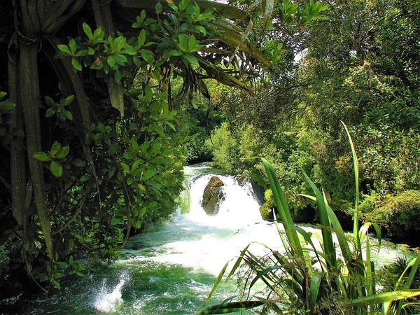 Photograph - Huka Falls Waikato River by Joan Stratton