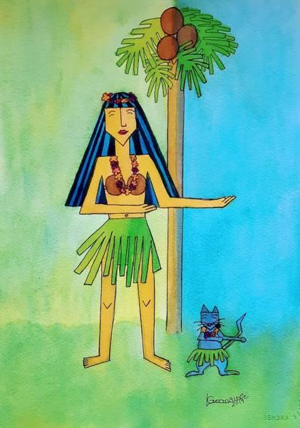 Painting - Hula Girl by Lorraine Germaine