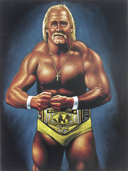 World Wrestling Federation Wall Art - Painting - Hulk Hogan World Wrestling Federation Wwf by Zenon Jimenez