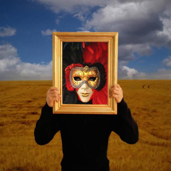 Human Face Photograph - Human Form Holding Framed Picture Over by Abdul Kadir  Audah