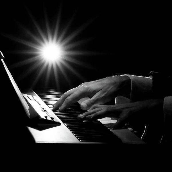Piano Photograph - Human Hand Playing Piano by Simpatia