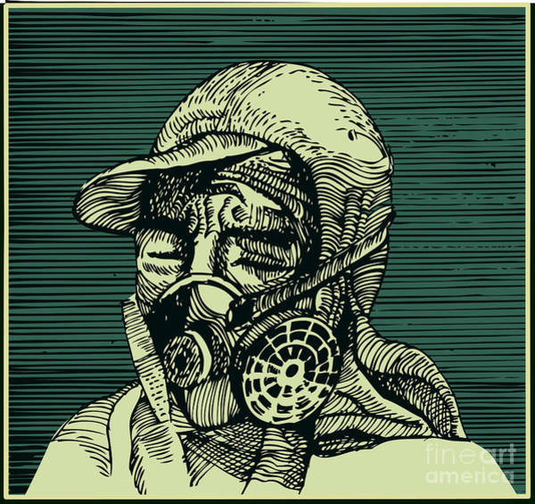Chemistry Wall Art - Digital Art - Human Head With Mask by Ryger