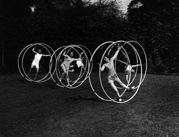 Adult Male Photograph - Human Wheels by Topical Press Agency
