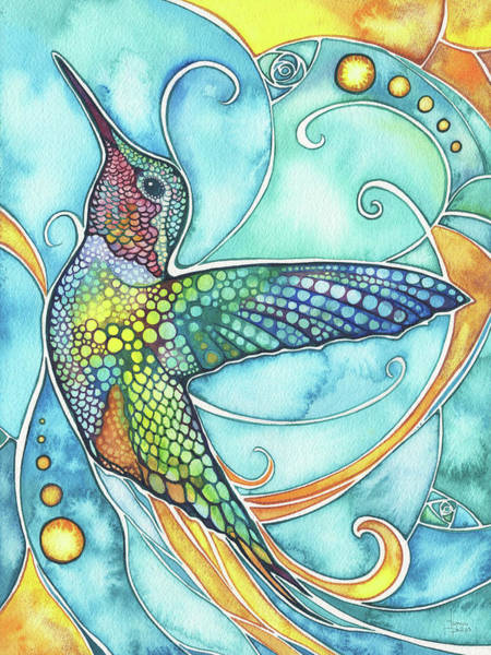 Wall Art - Painting - Hummingbird by Tamara Phillips