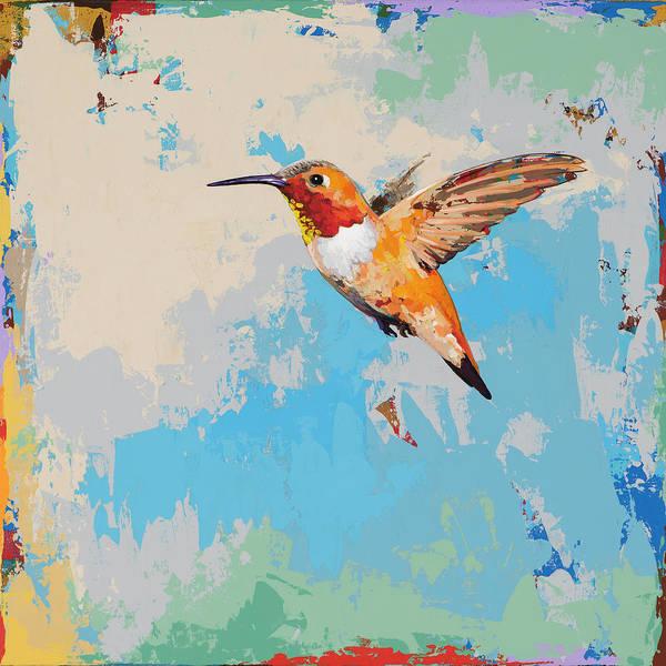 Small Birds Painting - Hummingbird #24 by David Palmer