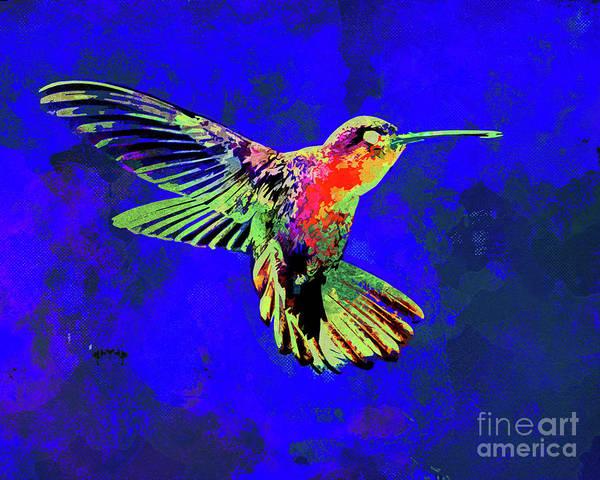 Wall Art - Mixed Media - Hummingbird Dance II by Chris Andruskiewicz