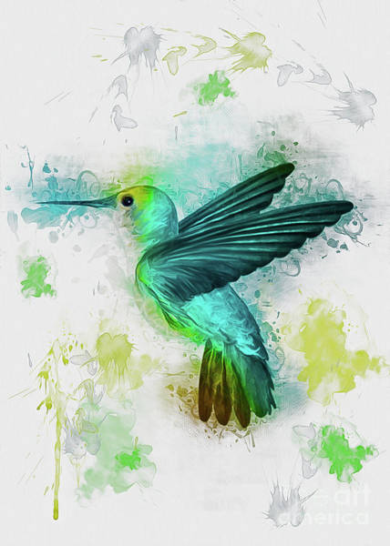 Digital Art - Hummingbird by Ian Mitchell