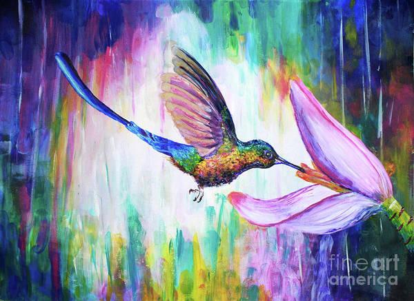 Wall Art - Painting - Hummingbird by Olesya Umantsiva
