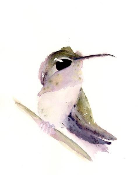 Painting - Hummingbird Series 2019 #2 by Dawn Derman