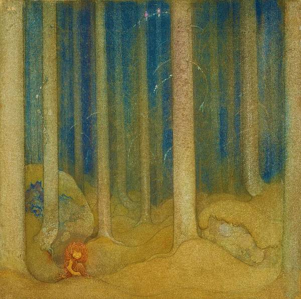 Wall Art - Painting - Humpe In The Woods - Digital Remastered Edition by John Bauer