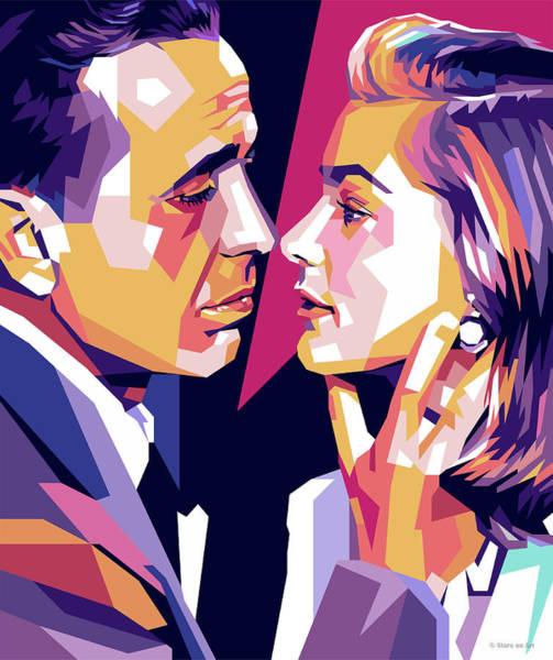 Bogart Digital Art - Humphrey Bogart And Lauren Bacall by Stars on Art