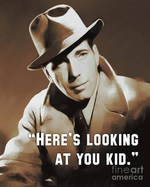 Wall Art - Painting - Humphrey Bogart, Vintage Actor by Esoterica Art Agency