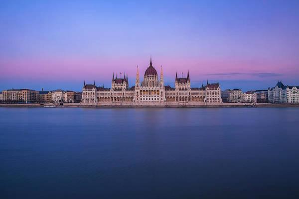 Wall Art - Photograph - Hungarian Parliament At Dusk by Andrew Soundarajan