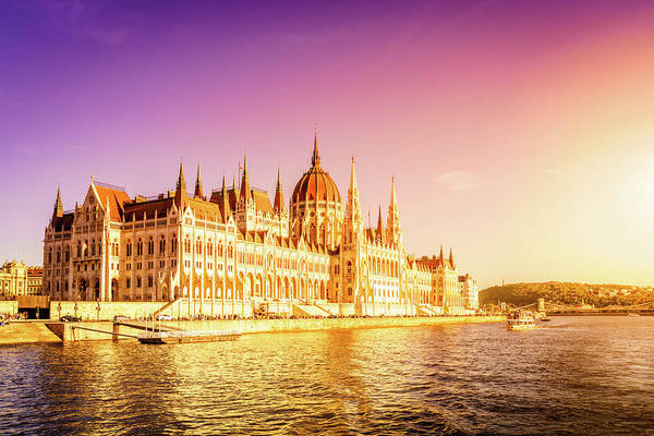 Wall Art - Photograph - Hungarian Parliament Building In Budapest by Alexey Stiop