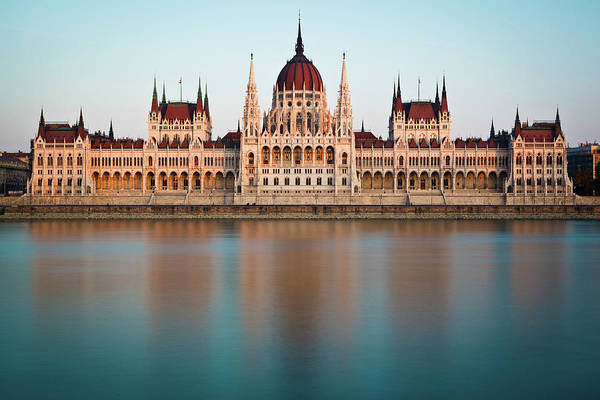 Parliament Building Photograph - Hungarian Parliament Building by Mark Whitaker