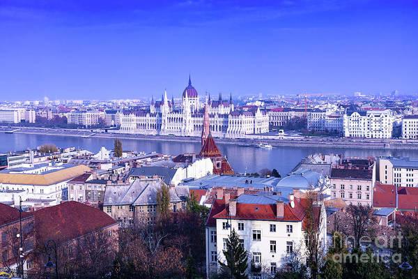Wall Art - Photograph - Hungarian Parliament From Buda  by Diane Macdonald