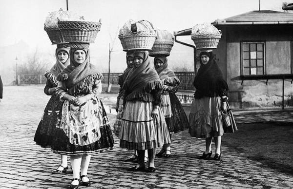 Human Interest Photograph - Hungarian Peasant Women, 1950s by Keystone-france