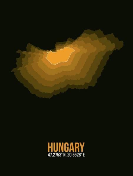 Wall Art - Digital Art - Hungary Radiant Map 3 by Naxart Studio