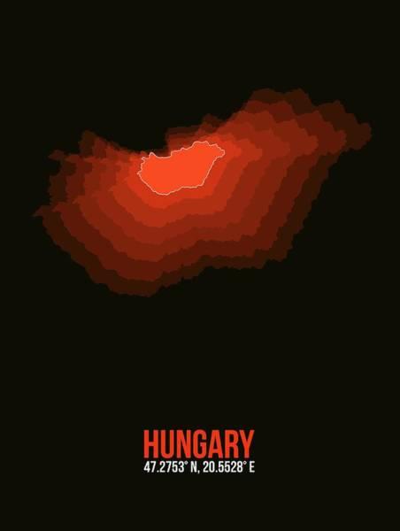 Wall Art - Digital Art - Hungary Radiant Map I by Naxart Studio